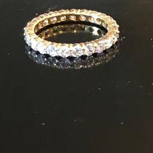 Cubic Zirconia Eternity Ring Size 9